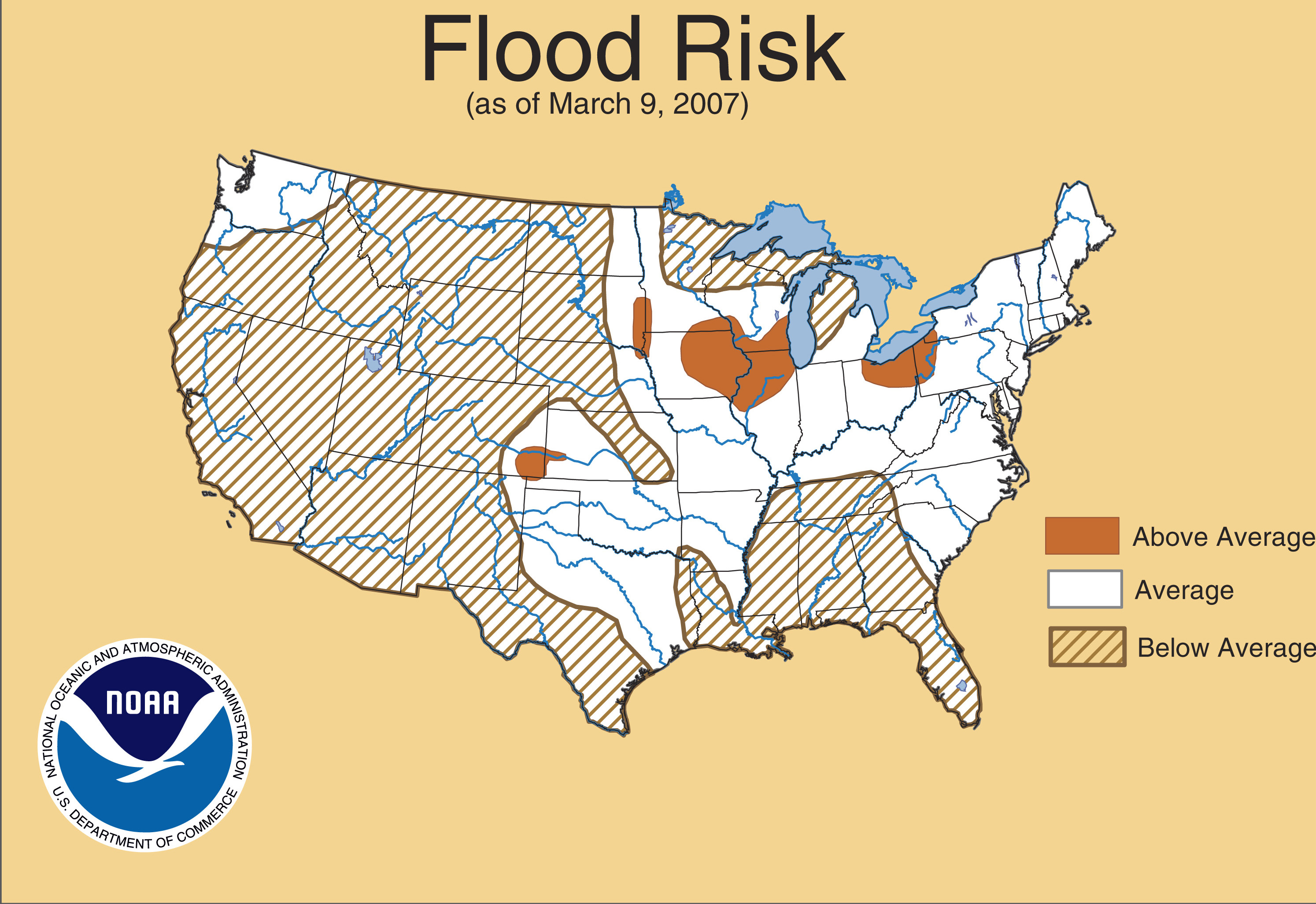 Spring Drought Precipitation Temperature Flooding Maps - Map of flooding in us
